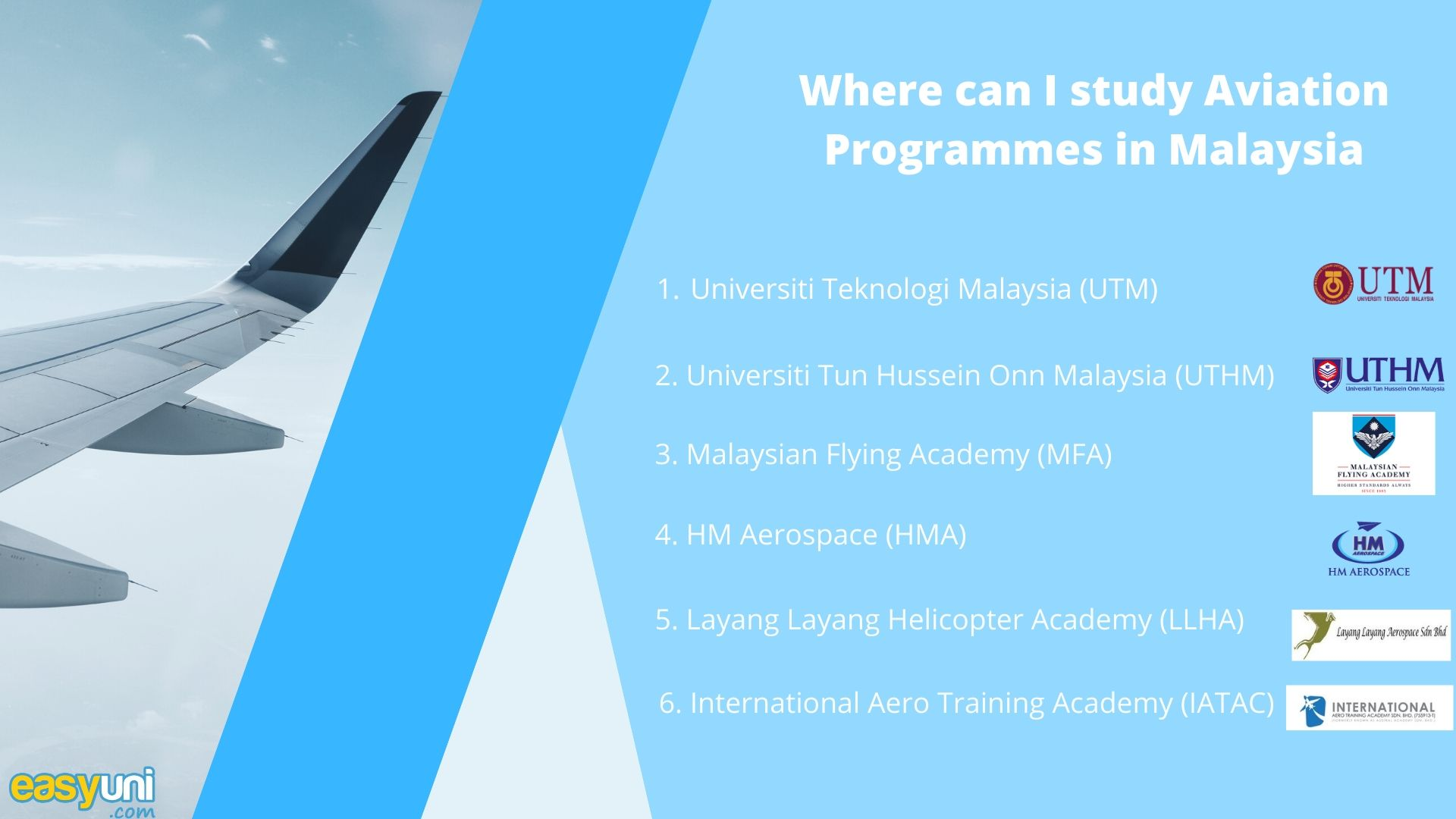 Where can I study Aviation Programmes in Malaysia